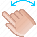 control, gesture, hand, rotation, turn, yumminky icon