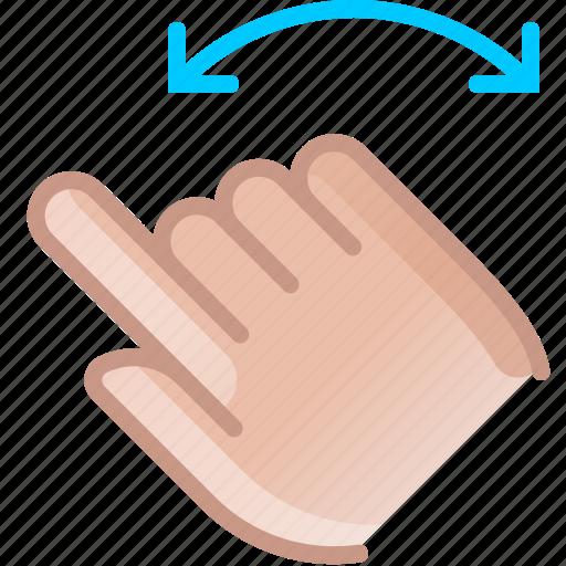 control, gesture, hand, rotation, turn, yumminky icon