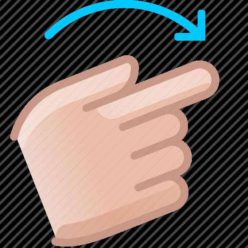 control, gesture, hand, right, rotation, turn, yumminky icon