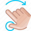 gesture, hand, right, rotation, touch, turn, yumminky icon