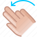 control, gesture, hand, left, rotation, turn, yumminky icon