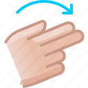 control, gesture, hand, right, rotation, turn, yumminky icon