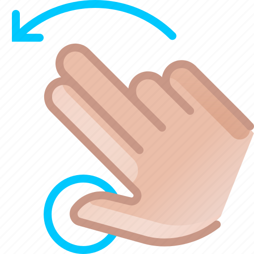 gesture, hand, left, rotation, touch, turn, yumminky icon