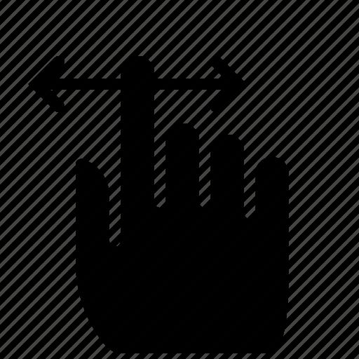 fingers, gesture, hand, scroll, slide, vertical, yumminky icon