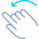 control, gesture, hand, rotate, rotation, turn, yumminky icon
