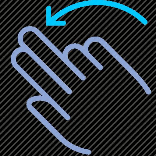 control, fingers, gesture, hand, rotation, turn, yumminky icon