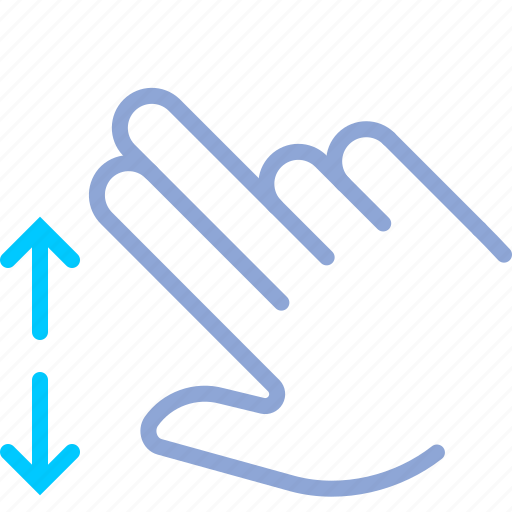 control, down, gesture, hand, up, vertical, yumminky icon