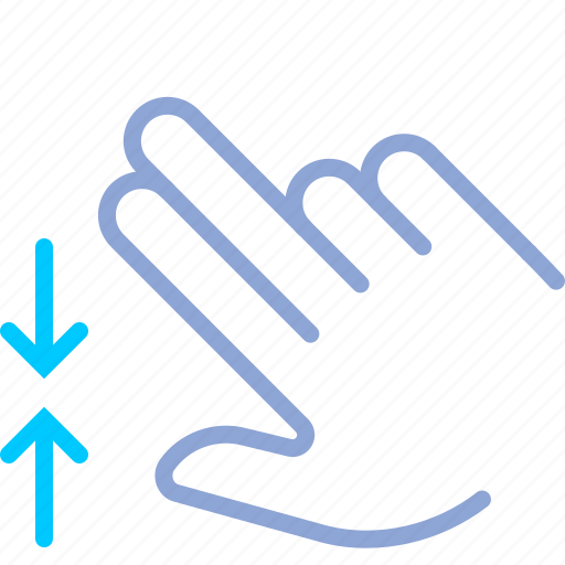 control, fingers, gesture, hand, pinch, zoom out icon