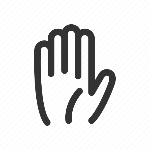 fingers, gesture, hand, high five, palm, stop, wait icon