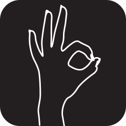finger, gesture, gestures, hand, ok, shows, touch icon