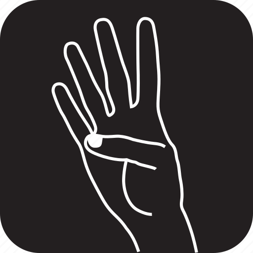 fingers, four, gesture, gestures, hand, swipe, touch icon