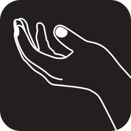 finger, gesture, hand, holding, out, something, touch icon