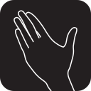 finger, gesture, hand, inner, interaction, surface, touch icon