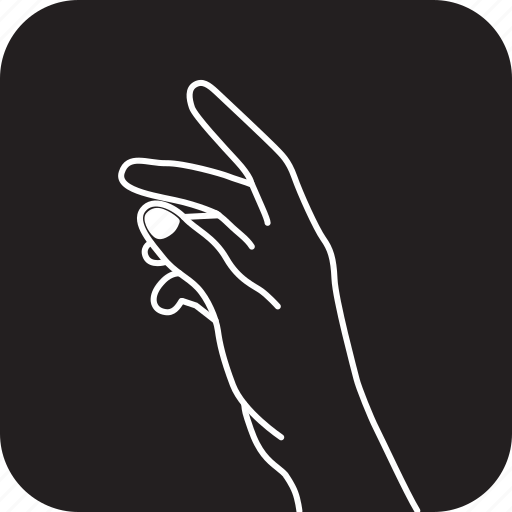 click, fingers, hand, interaction, showing, something, touch icon