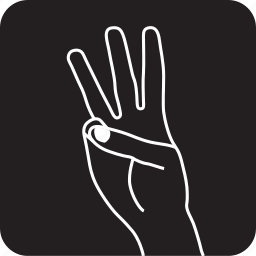 finger, fingers, gesture, hand, swipe, three, touch icon
