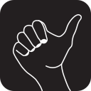 arrow, direction, finger, gesture, hand, thumbs, up icon