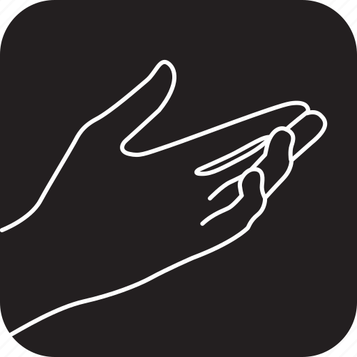 answer, finger, gesture finger, hand, interaction, to icon