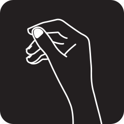 finger, hand, keep, something, to, two, want icon