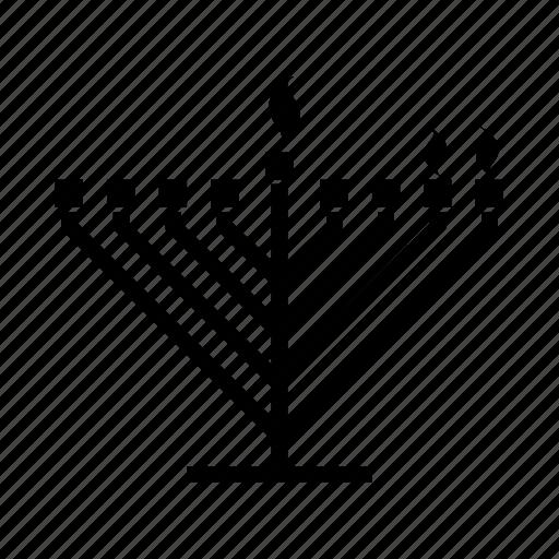 candelabrum, candles, hanukah, hanukkiah, judaica, judaism, menorah icon