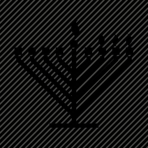 candles, hanukkah, hanukkiah, jewish, judaica, judaism, menorah icon