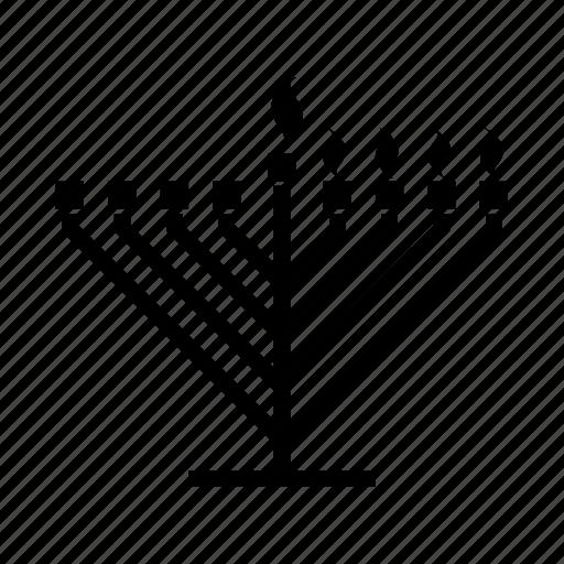 candelabrum, candles, chanukah, hanukkiah, jewish, judaism, menorah icon