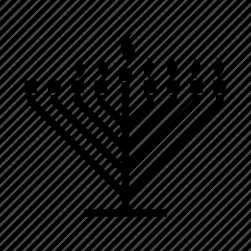 candelabrum, candles, hanukkah, hanukkiah, jewish, judaism, menorah icon