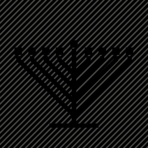 candelabrum, hanukkah, hanukkiah, jewish, judaica, judaism, menorah icon