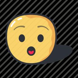 amazed, cartoon, emoji, emoticon, emotion, sad icon