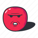 annoyed, emoji, emoticon, emotion, upset icon