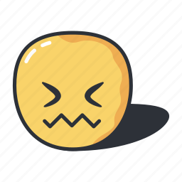 confounded, emoji, emoticon, emotion, frustrated icon