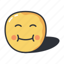 cute, emoji, emoticon, emotion, expression, happy icon