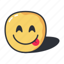 delicious, emoji, emoticon, feeling, happy icon