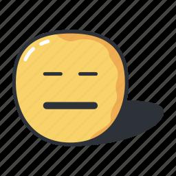 emoji, emoticon, emoticons, emotion, expresionless, sad icon