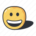 emoji, emoticon, emotion, expression, feeling, grinning icon