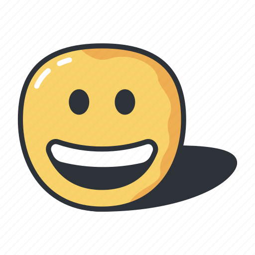 emoji, emoticon, emotion, expression, feeling, grinning icon