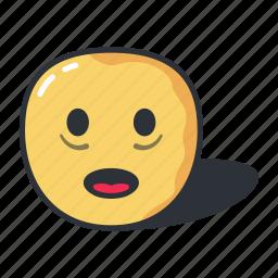 emoji, emoticon, emotion, feeling, horrified icon
