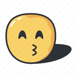 emoji, emoticon, emotion, expression, kiss icon