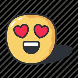emoji, emoticon, heart, love, valentine icon