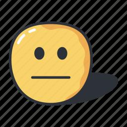 emoji, emoticon, emoticons, neutral, sad icon