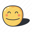 emoji, emoticon, pleasant, smile, smiley icon