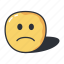 emoji, emoticon, frown, sad, slight icon