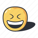 closed, emoji, eyes, mouth, open, smiling icon