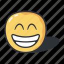 emoji, expression, eyes, feeling, grinning, smiling icon