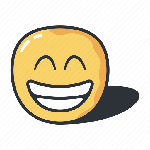 emoji, expression, eyes, feeling, grinning, smiling icon