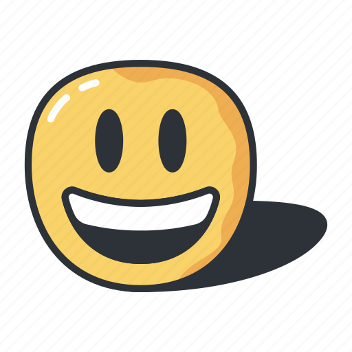 emoji, emoticon, mouth, open, smiling, with icon