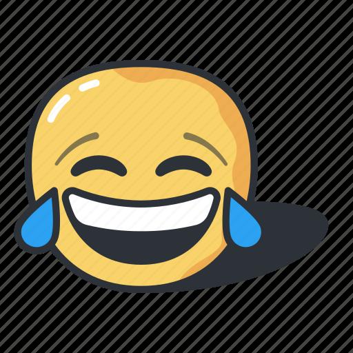 emoji, emoticon, joy, laughing, of, smile, tears icon