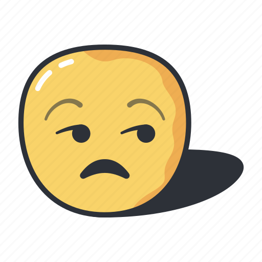 emoji, emoticon, emotion, feeling, unamused icon