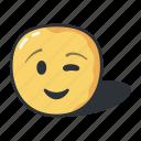 emoji, wink, emoticons, feeling, smiley
