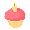 baking, cafe, cake, cartoon, confectionery, cream, muffin icon