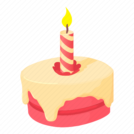 Birthday Cake Cartoon Cupcake Decoration Fun Meal Icon